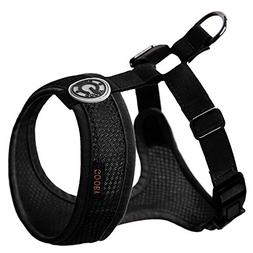 Gooby 04108-BLK-M Freedom Harness II Black Medium Soft Synth