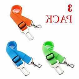 3 X Colorful Dog Pet Safety Adjustable Car Seat Belt Harness