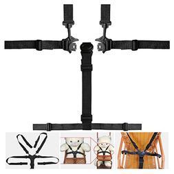 Hugesavings 5 Point High Chair Straps, Safety Harness Belt,