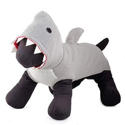 The Worthy Dog 5578 Jimmy The Shark Hoodie, Grey, XS