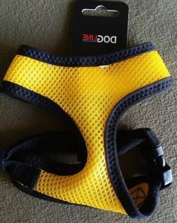 Dog Line Mesh Harness Yellow with Black Trim Size Small Ne