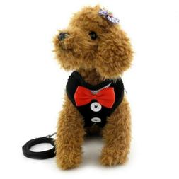 SMALLLEE_LUCKY_STORE Small Dog Tuxedo Harness for Boy, Adjus