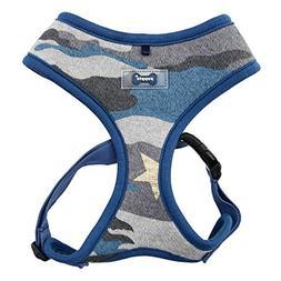"""Puppia """"A Ensign Harness, Medium, Blue Camo"""