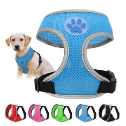 Adjustable Breathable Mesh Small Dog Cat Pet Harness Collars