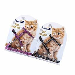 Niteangel 2-Pack of Adjustable Cat Harness & Leash