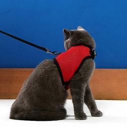 Niteangel 2-Pack of Adjustable Cat Harness with Elastic Leas
