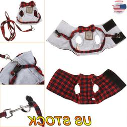 Adjustable Cats Pets Bowknot Harness and Leash Collar Mesh S