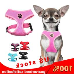 Adjustable Dog Harness Soft Mesh Vest Breathable Puppy Padde