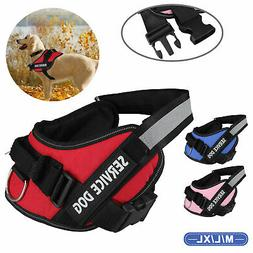 Adjustable Patches Dog Pet Service Vest Harness Reflective S