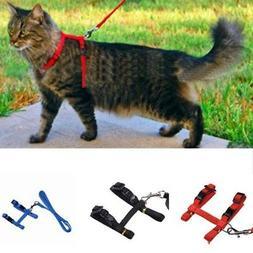 Adjustable Pet Cat Nylon Harness Leash Kitten Halter Collar