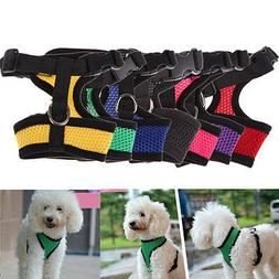 Adjustable Pet Control Harness Collar Safety Strap Belt Mesh