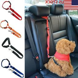 Adjustable Pet Dog Harnesses Seat Belt Lead Restraint Strap
