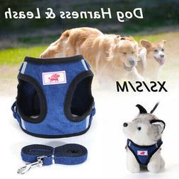 Adjustable Reflective Pet Dog Harness Leash Puppy Cat Vest C
