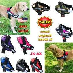 Dog Puppy Harness Vest Patches Reflective ESA No Choke No Pu