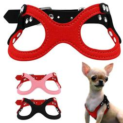 Adjustable Small Dogs Harnesses Leather For Cutie Chihuahua