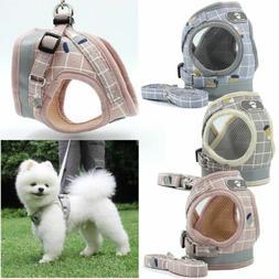 AdjustableSmall Dog Cat Pet Harness Leash Collars Breathable