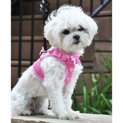 American River Choke-Free Dog Harness Polka Dot  - Teal - Pu