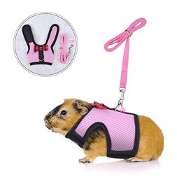PERSUPER Small Animals Harness and Leash Adjustable - Soft M