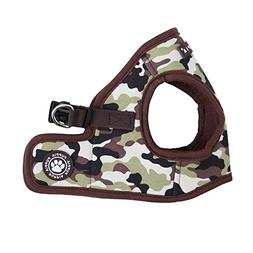 Puppia Authentic Legend Harness B, Brown, Small