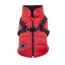 Puppia Authentic Mountaineer II Winter Vest, Medium, Red