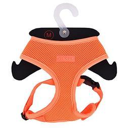 Puppia Authentic Neon Soft Harness A, Orange, Medium