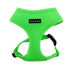 Puppia Authentic Neon Soft Harness A, Green, Large