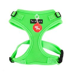 Puppia Authentic Neon Soft Harness II, Small, Green