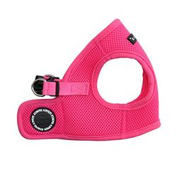 Puppia Authentic Neon Soft Vest Harness B, Pink, Small