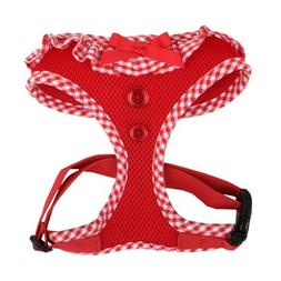 Authentic Puppia Vivien Harness, Red, Medium