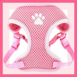Top Paw Baby Pink Padded Comfort Mesh Paw Print Dog Harness