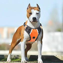 Big Dog Harness No Pull Adjustable Pet Reflective Oxford Sof