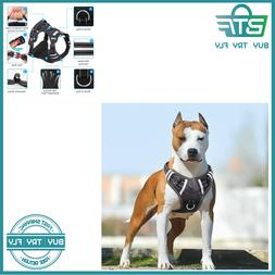 Big Dog Harness No Pull Adjustable Pet Reflective Oxford Sof