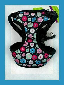 Top Paw Black Soft Dog Harness Blue Pink Green Red Donut Flo