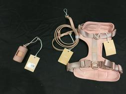 Wild One Blush Harness Walk Kit, Small Leash, Poop Bag Carri