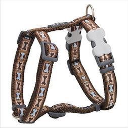 Red Dingo Bone Yard Brown Medium Dog Harness chest circumfer