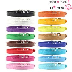 cat accesories Pink PU leather XS S M L XL safety name perso