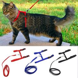 Cat Dog Collar Harness Leash Adjustable Nylon Halter Collar