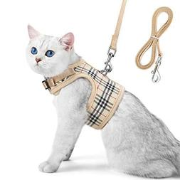 Unihubys Cat Harness with Leash Set- Adjustable Soft Mesh Ma