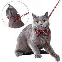 Mihachi Cat Harness Adjustable with Removable Bowtie-for Kit