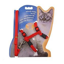 Rella Home Cat Harness and Leash Adjustable Nylon Halter Har