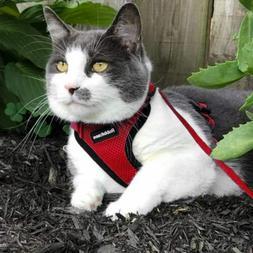 cat harness reflective walking vest adjustable