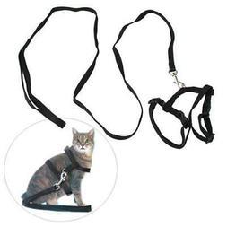 Cat Kitten Pet Nylon Walking Leash Adjustable Length Harness