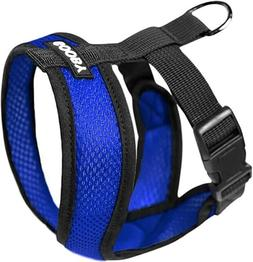 Gooby 04110-BLU-M Comfort X Harness Blue Medium Soft Synthet