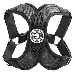 Gooby 04111-BLK-M Perfect Fit X Harness Black and Black Medi