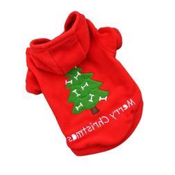 Christmas Cat Clothes Warm Cat Coats Outfits Pet Clothes Sma