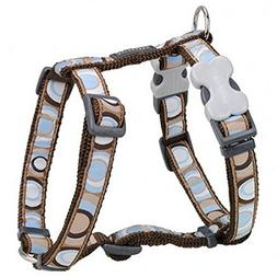 Red Dingo Circadelic Brown Small Dog Harness chest : 14 - 21