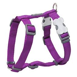 Red Dingo Classic Dog Harness, Large, Purple