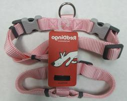 Red Dingo Classic Pink Dog Harness 20mm with D-Ring and Bone