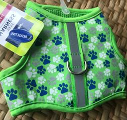 Top Paw Comfort BOY Dog Puppy Vest Harness REFLECTIVE Paw Pr