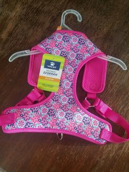 Top Paw Comfort Dog Harness Adjustable MEDIUM Pink W/ Flower